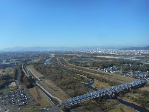 川島 ツインアーチ138から北西を望む