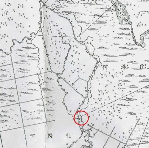 明治29年地形図 レツレップ古川 分流?地点