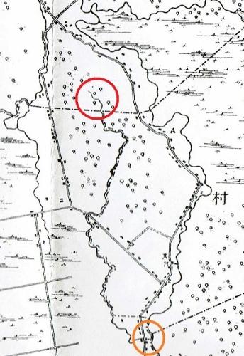 明治29年地形図 レツレップ古川 下流
