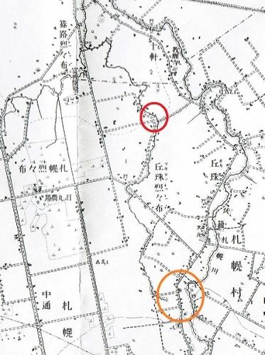 大正5年地形図 レツレップ古川 河道