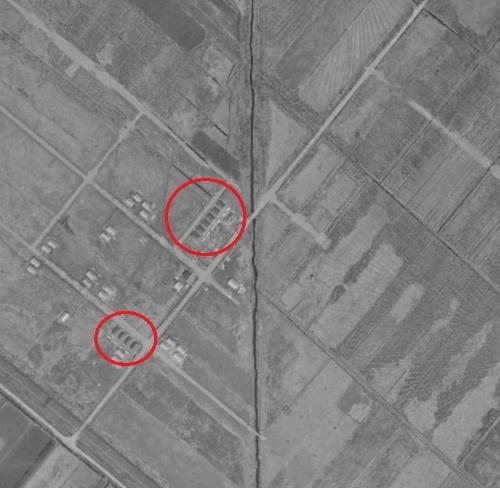 1961年空中写真 発寒団地