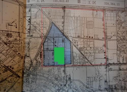 ていね稲積土地区画整理完成記念誌 工区図