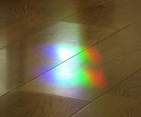 見る角度を変えた時の虹