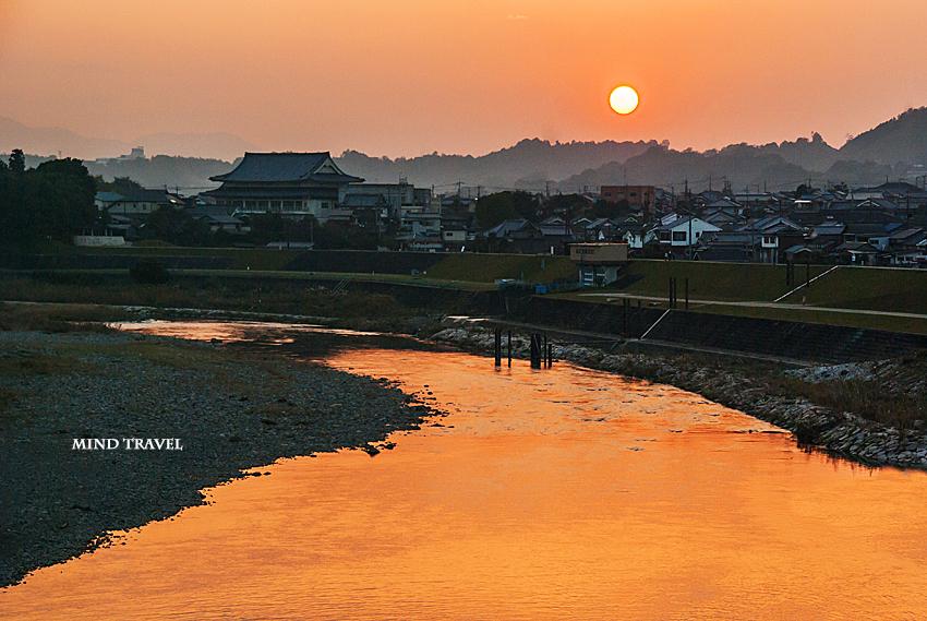 五條付近 吉野川 夕景