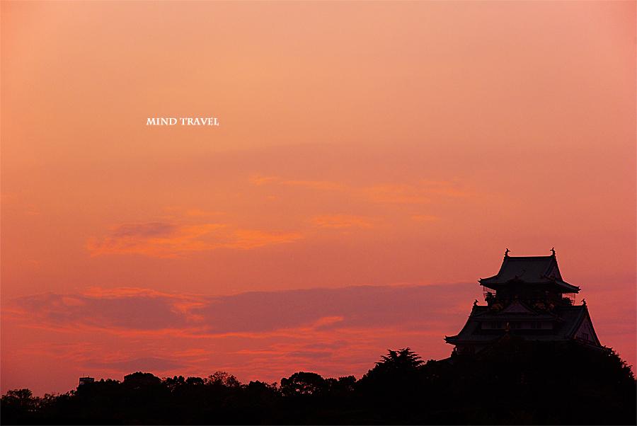 大坂城 夕景