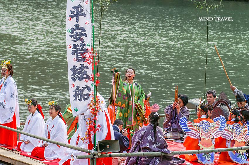 嵐山 もみじ祭 平安管弦舟2