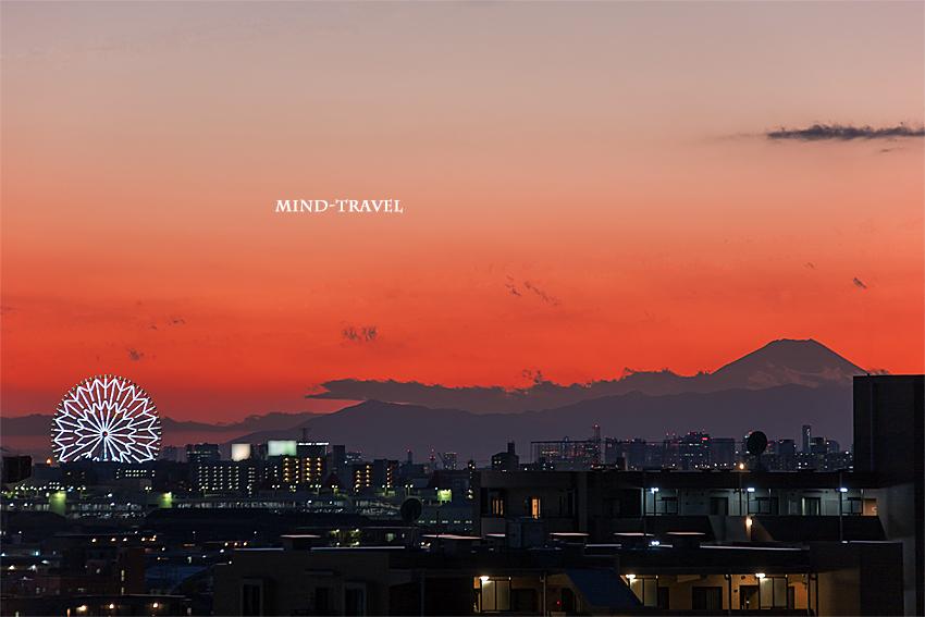浦安より富士山を望む
