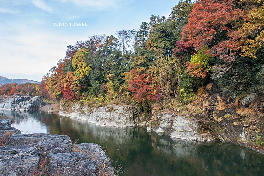 長瀞渓谷-紅葉