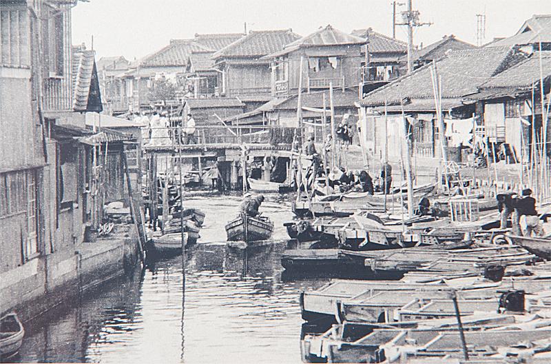 浦安 昭和39年ごろの境川の写真
