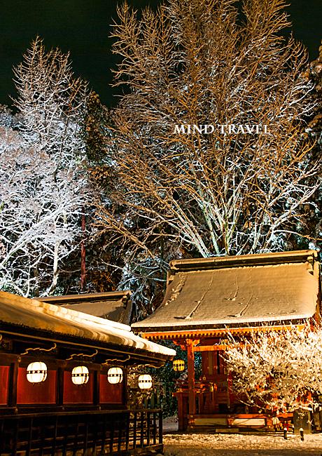 北野天満宮 地主神社 雪
