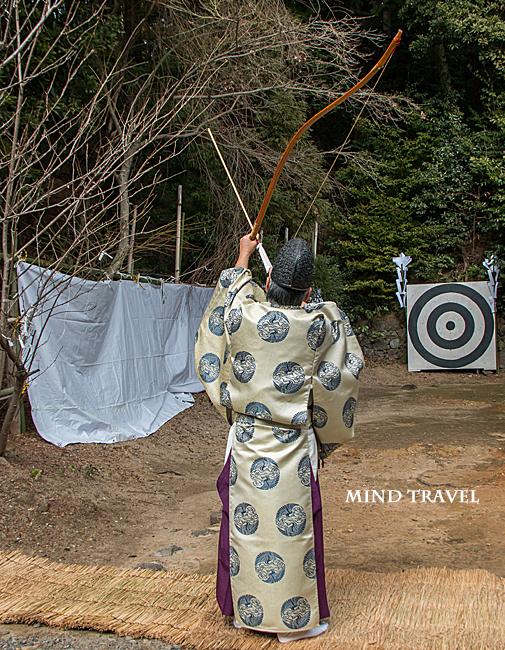 走田神社 弓講