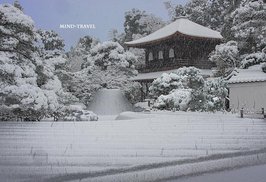 銀閣寺 雪