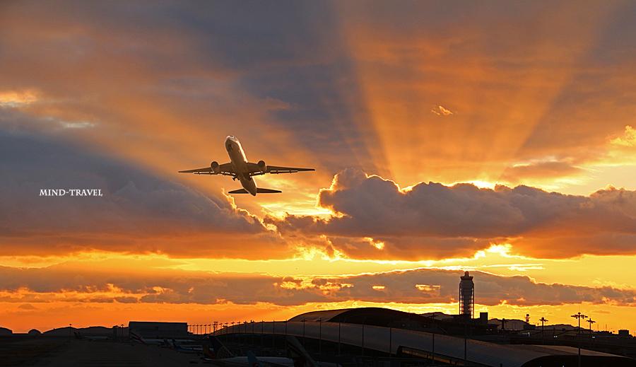 関西空港 夕景