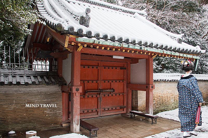 石清水八幡宮 東総門 雪