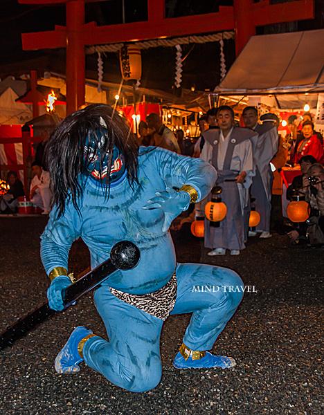 吉田神社 節分祭 青鬼