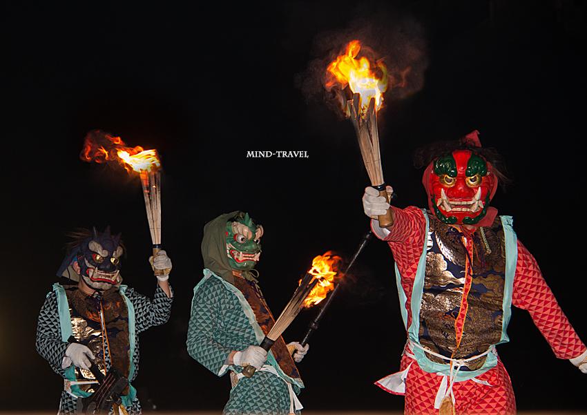 興福寺 追儺会 三匹の鬼