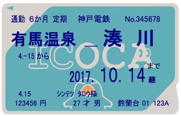 20170203神戸電鉄ICOCA定期券