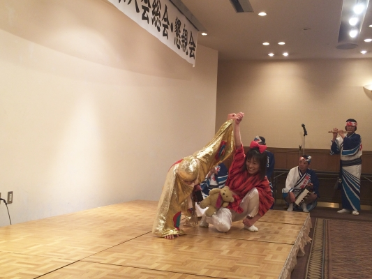 神戸楠公連 2016神戸徳島県人会総会 阿波おどり 奴凧