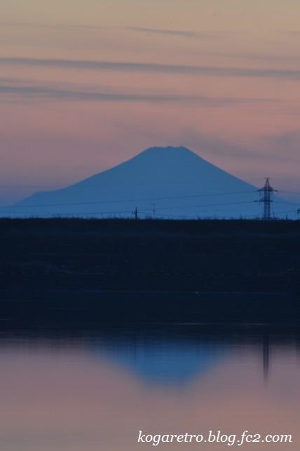 渡良瀬遊水地の夕日(12)