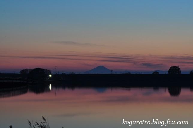 渡良瀬遊水地の夕日(12)2