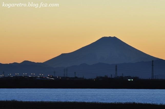 渡良瀬遊水地の夕日(13)