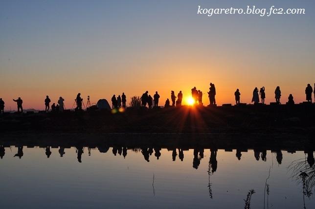 2017谷中湖の初日の出2