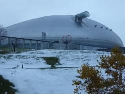 雪の札幌ドーム
