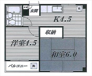 コープ長谷川302号間取り図_R