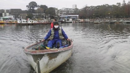 2度目の船釣りで緊張の出船