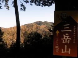井伊谷城跡からの三岳山