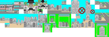 庚申塔の設置場所のドット絵