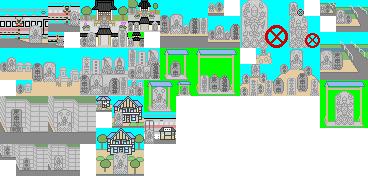 庚申塔の設置場所のドット絵368-176