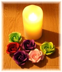 薔薇折り紙