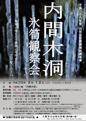 氷筍観察会