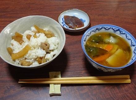 20161203姫大根の炊き込みご飯