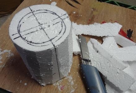 6の4上から円柱に切り落とす