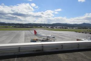 出雲空港を発つ