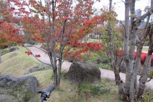 富山城のそば