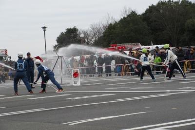 自衛消防隊の演技