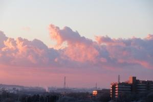 2月7日、南東の雲