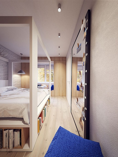Bedroom-with-sleek-Scandinavian-style-and-a-giant-mirror.jpg