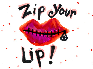 zip ones lip