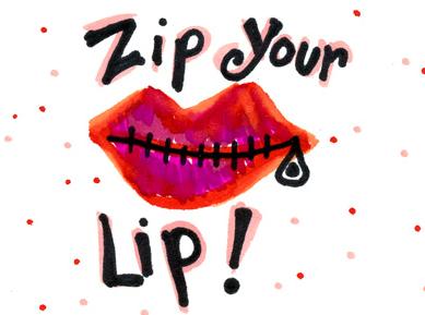 zip ones lip