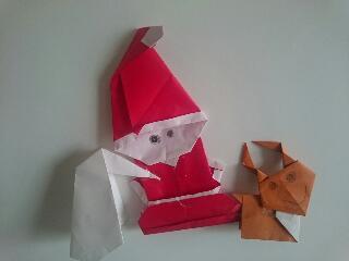 折り紙サンタクロース