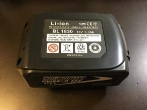 「マキタ 18V充電式掃除機CL182FDZW」の互換バッテリーを試す♪ 純正品8000円 vs 互換製品2500円!!