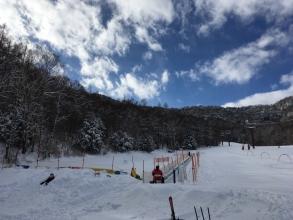 2017/1/9の八千穂高原スキー場は快晴♪ 気温も0度で過ごし易い♪