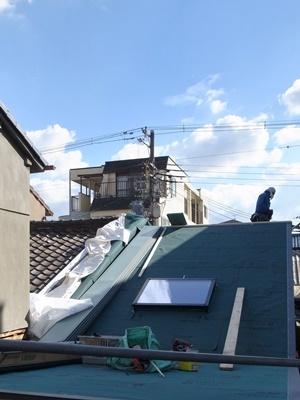 文園長屋屋根葺き替え1611