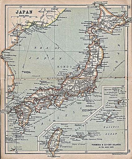 1911 日本台湾地図