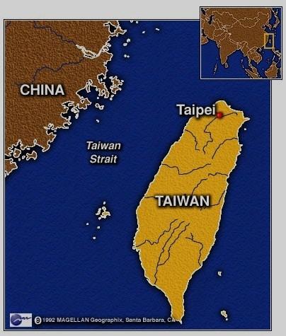 台湾地図 taiwan-china-map