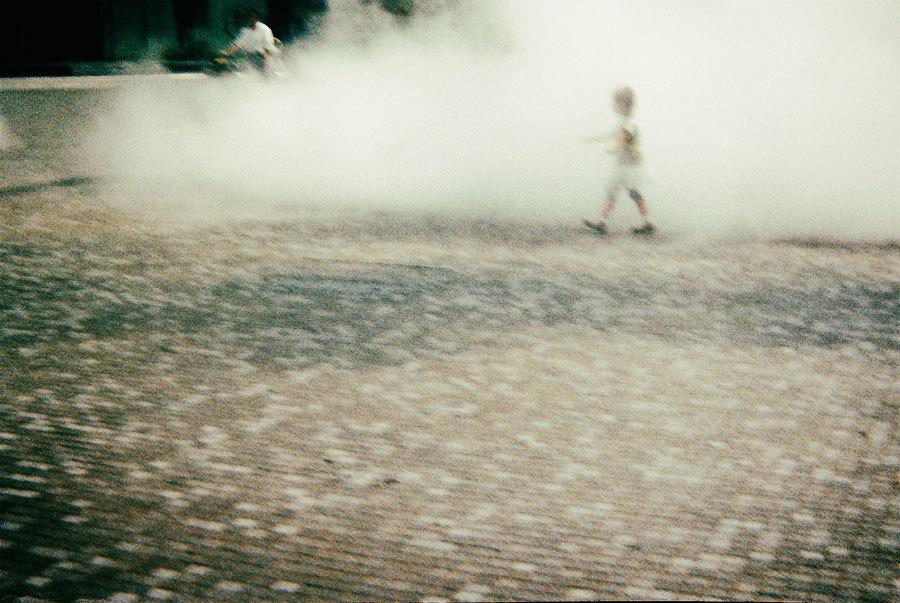 水煙と子供